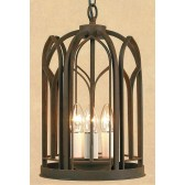 Impex Villa Lantern Aged - 3 Light