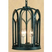 Impex Villa Lantern Antique Black - 3 Light