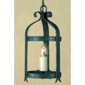 Impex Villa Lantern Antique Black - 1 Light, Black