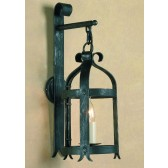 Impex Villa Wall Lantern Antique Black - 1 Light