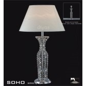 Diyas Soho Table Lamp 1 Light Polished Chrome/Crystal Tall