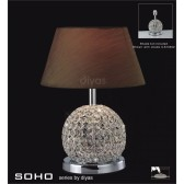 Diyas Soho Table Lamp 1 Light Polished Chrome/Crystal Large Ball