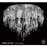 Diyas Solana Ceiling 18 Light Polished Chrome/Crystal