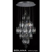 Diyas Solana Pendant 18 Light Polished Chrome/Crystal