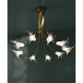 Cervina Ceiling Light - 9 Light, Gold