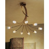 Mosca Ceiling Light - 9 Light, Antique Brown