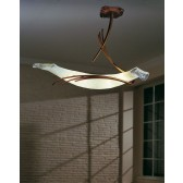 Roma Ceiling Light - 4 Light, Copper Red, Amber Glass