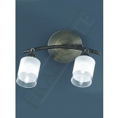 Franklite Quintet Double Spotlight - 2 Light, Polished Brass, Satin Brass