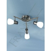 Franklite Quintet Multiple Spotlight Fitting - 3 Light, Polished Chrome, Satin Nickel