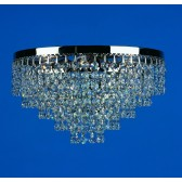 Impex Dortmund Ceiling Light Mirror Black - 3 Light
