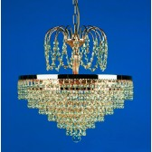 Impex Bremen Chandelier Gold Plated - 5 Light