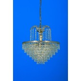 Impex Bonn Chandelier Gold Plated - 5 Light