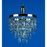 Impex Halle Chandelier Nickel - 1 Light