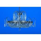 Impex Rostock Chandelier Nickel - 6 Light