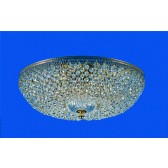 Impex Hanover Ceiling Light Gold - 5 Light