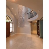 Impex Crystal Art Ceiling Light 31cm Dia - 3 Metre Drop Chrome