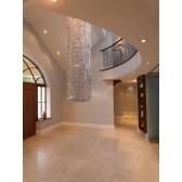 Impex Crystal Art Ceiling Light 40cm Dia - 2 Metre Drop Chrome