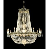 Impex Hamburg Chandelier Gold Plated - 30 Light