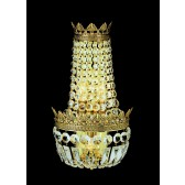 Impex Hamburg Wall Light Gold Plated - 3 Light