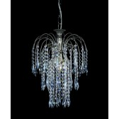 Impex Shower Chandelier Nickel - 1 Light