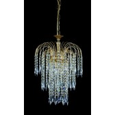 Impex Shower Chandelier Gold Plated - 3 Light