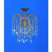 Impex Shower Chandelier - 1 Light, Brass & Gold Plate