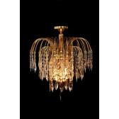 Impex Shower Chandelier - 1 Light, Brass & Gold