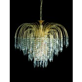 Impex Shower Chandelier Antique Brass - 6 Light