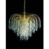 Impex Shower Chandelier Antique Brass - 6 Light