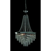 Impex Herne Chandelier Nickel - 3 Light