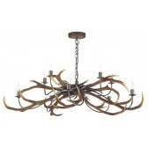 Stag 10 Light Pendant White No Shades
