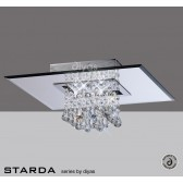 Diyas Starda Ceiling 5 Light Square Polished Chrome/Crystal