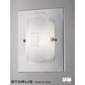 Diyas Starlis Wall Lamp Switched 1 Light Chrome/Crystal