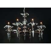 Impex Sorrento Chandelier Gold - 8 Light