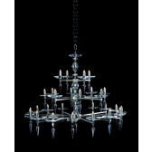 Impex Sorrento Chandelier Nickel - 28 Light