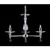 Impex San Marino Chandelier - 3 Light, Satin Chrome & Nickel