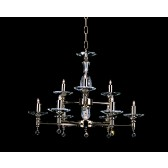 Impex San Marino Chandelier Gold Plated - 9 Light