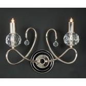 Impex Novara Wall Light - 5 Light, Satin Chrome & Nickel