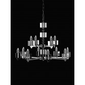 Impex Cube Chandelier - 12 Light, Nickel