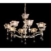 Impex Bresica Chandelier Gold - 8 Light, Gold