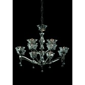 Impex Bresica Chandelier Nickel - 12 Light