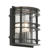 Norlys ST/FLU E27 BLK C Stockholm Flush Light E27 Black Clear