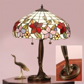 Interiors1900 Country Border Table Lamp with Majorelle Base