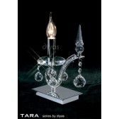 Diyas Tara Table Lamp 1 Light Polished Chrome/Crystal