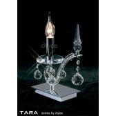 Diyas Tara Table Lamp 1 Light Polished Chrome/Crystal