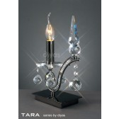 Diyas Tara Table Lamp 1 Light Polished Black Chrome/Crystal
