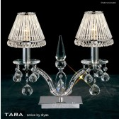 Diyas Tara Table Lamp 2 Light Polished Chrome/Crystal