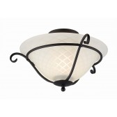 Elstead TCH/F BLACK Torchiere Flush Light Black