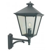 Norlys TG1 BLACK Turin Grande Up Wall Lantern Black