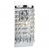 Tiara Single Wall Light - Polished Chrome